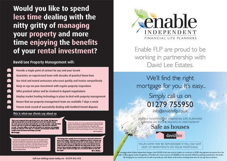 Double spread David Lee Estates advertisment promotion design