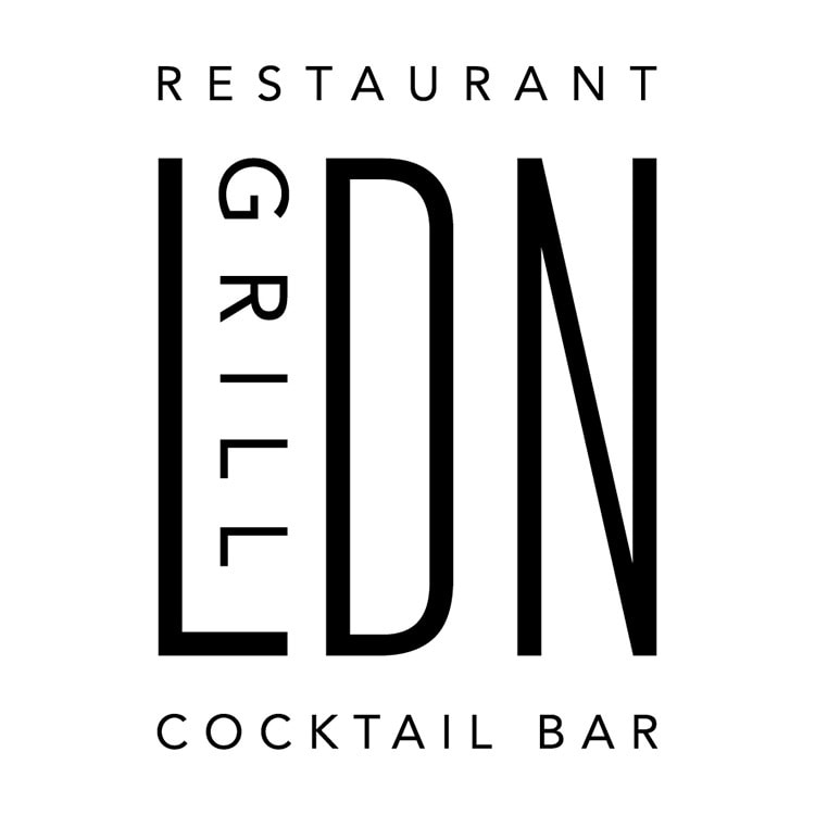 LDN Grill logo design white background