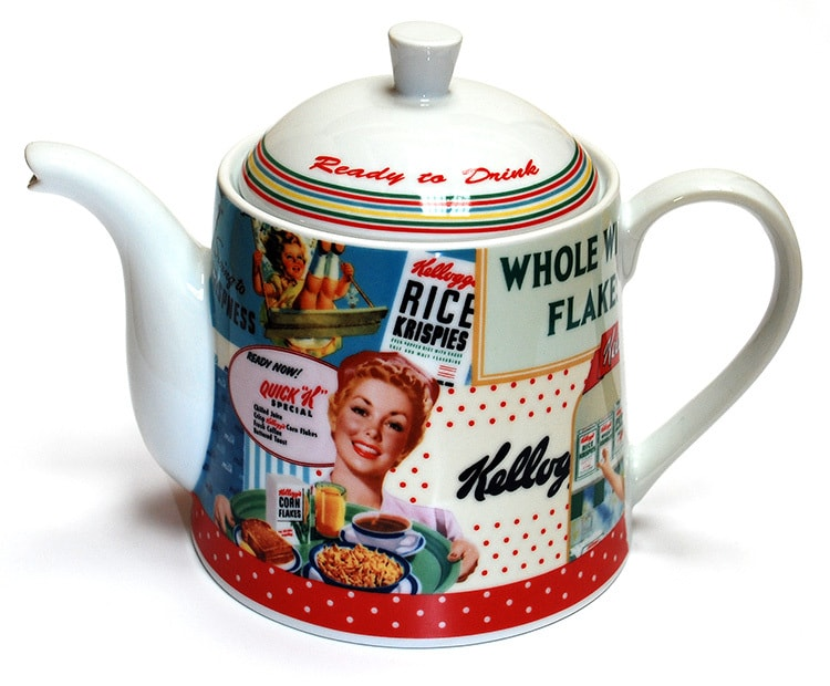 Close up of Vintage Kellogs tea pot photography for Pink Key