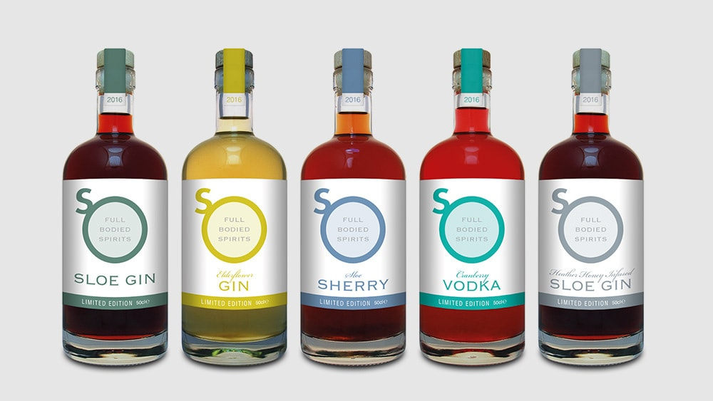 Drinks lineup with new So Drinks label design