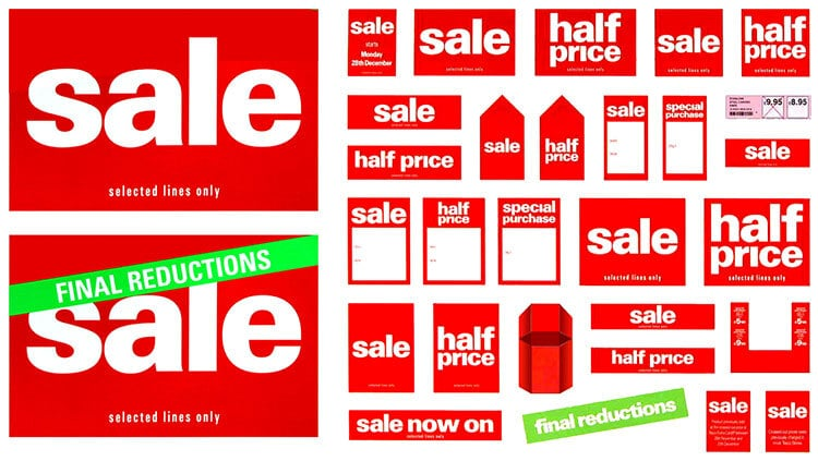Sale promotion materials design for Tesco
