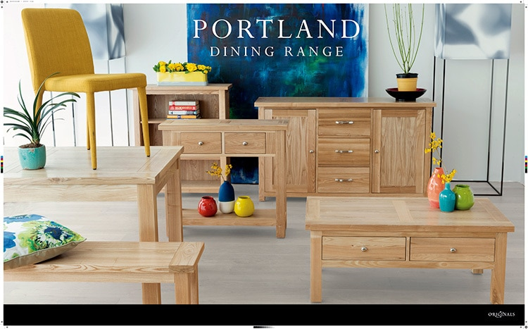 Portland Dining room range Promotion Design for Willis & Gambier