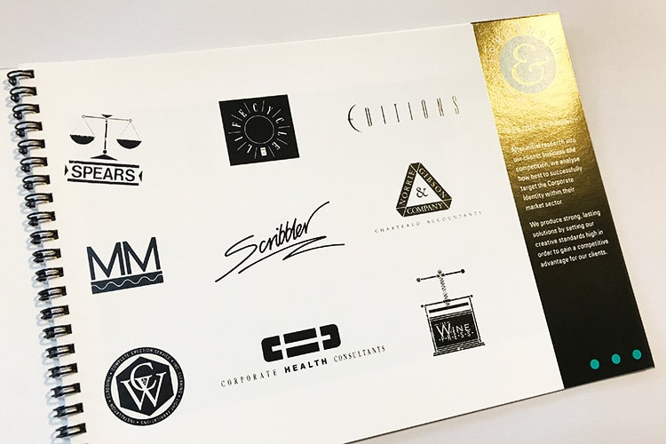 Isherwood Brochure design showing client logos