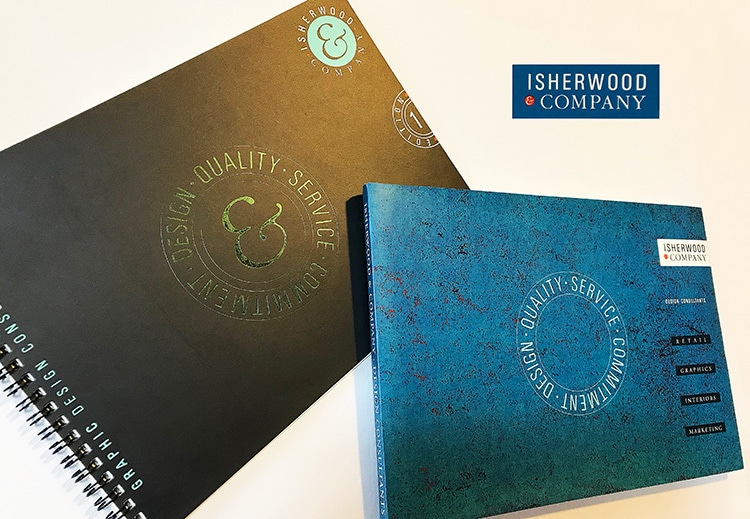 Isherwood Brochure front cover design wiro and perfect bound