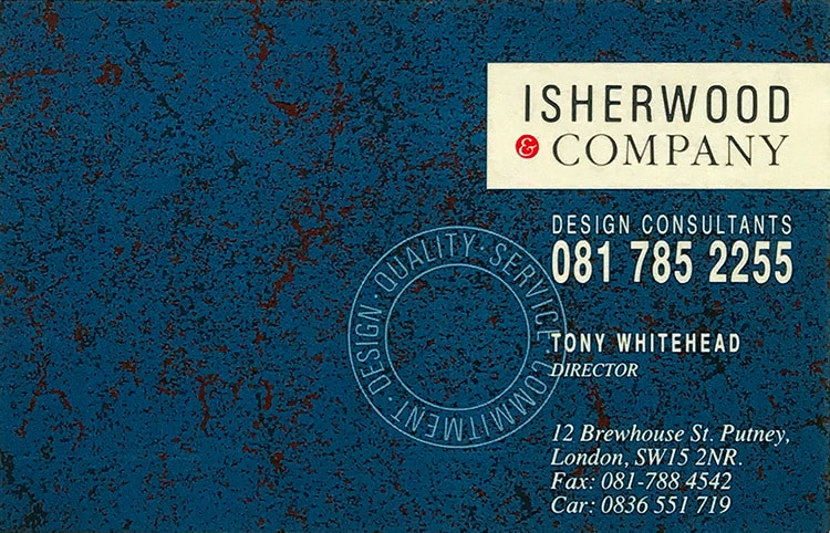 Isherwood Brochure front cover design flat artwork perfect bound