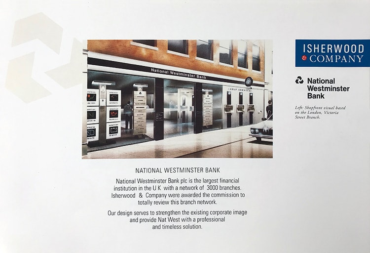 Isherwood Brochure spread National Westminster Bank client design work