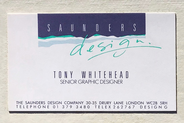 Saunders front business card design