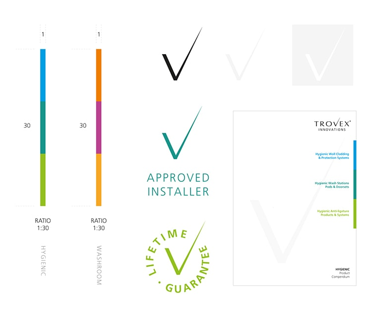 Branding elements for Trovex Innovations branding
