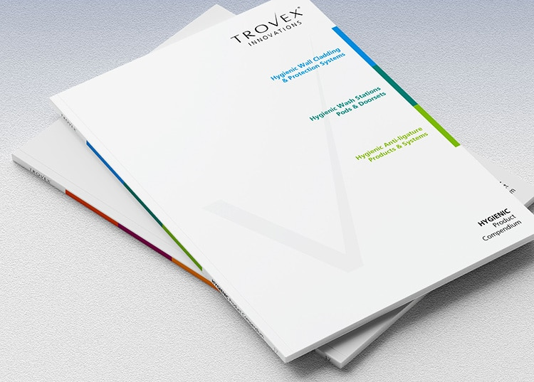 Front cover of Trovex hygienic compendium brochure design