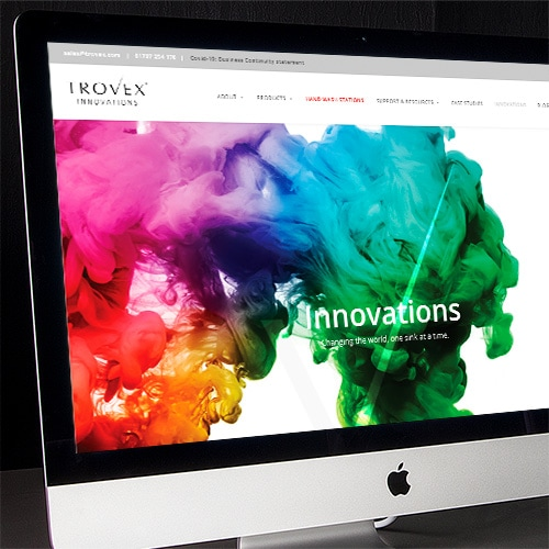 Homepage of Trovex Innovations responsive website design Thumbnail