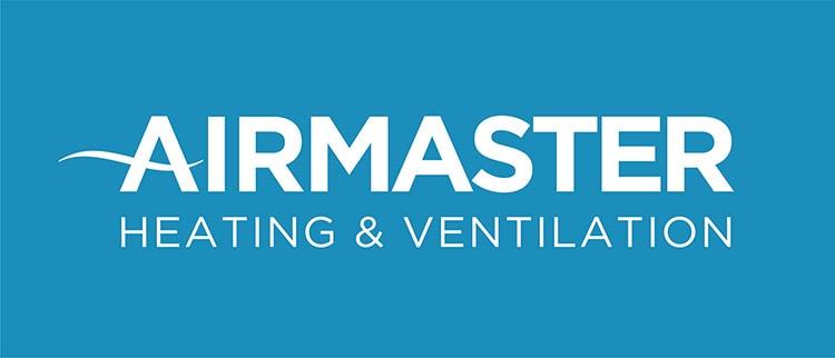 Airmaster logo design blue background for CED