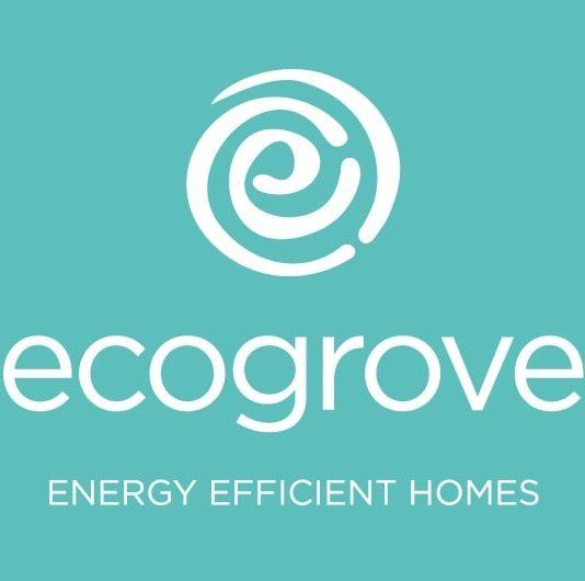 Ecogrove portrait branding design with teal background