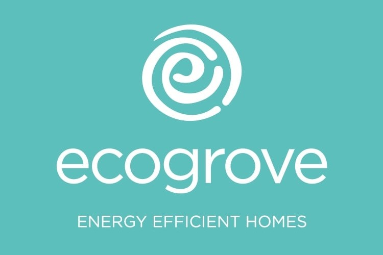 Ecogrove portrait branding design with teal background