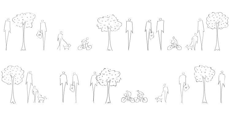 Hand drawn illustrations elements for Ecogrove branding