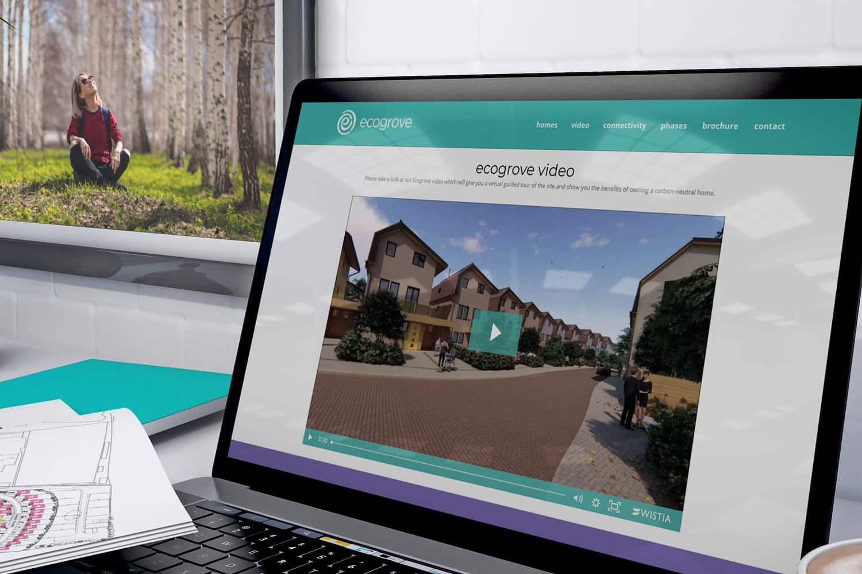 Ecogrove responsive website design on Laptop