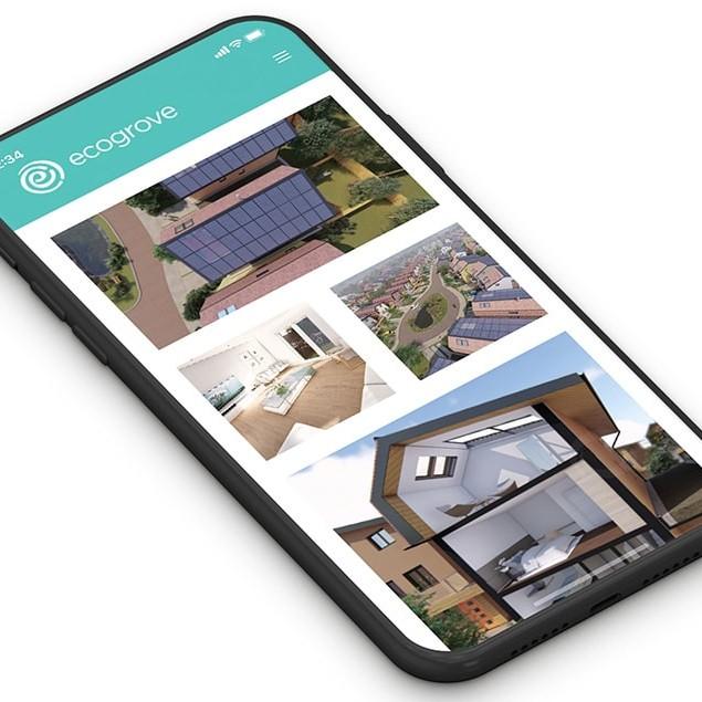 Ecogrove responsive website design displayed on mobile