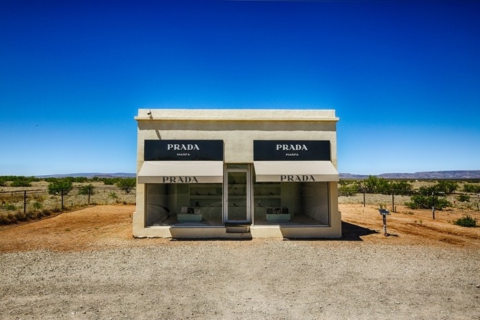 Prada shopfront design in the middle of a desert