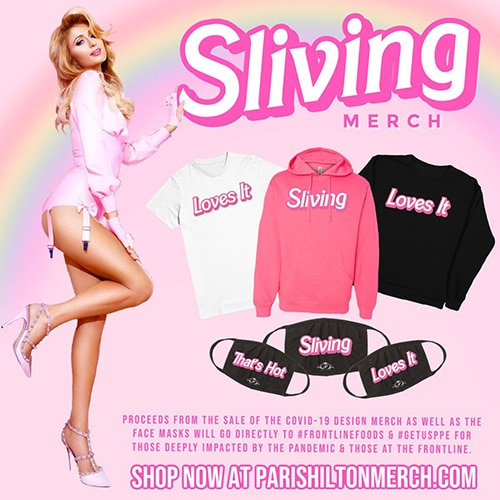 Sliving Paris Hilton merchandise line