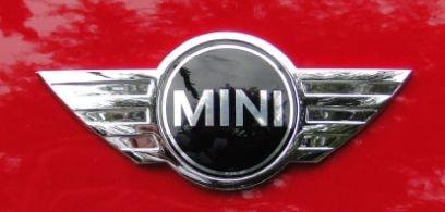 Mini cooper metalic logo on car hood