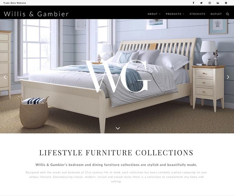 Homepage of Willis Gambier new responsive website design