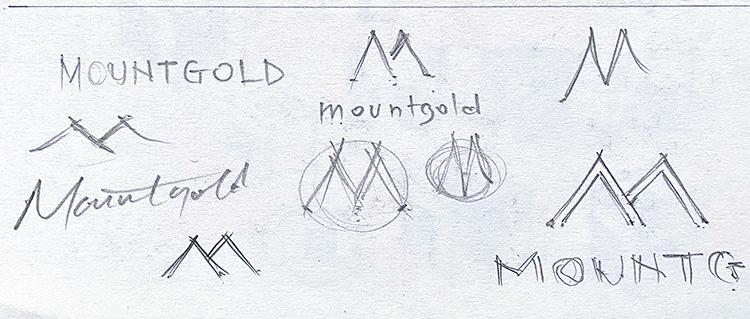 Mountgold Branding Design Concept Sketches